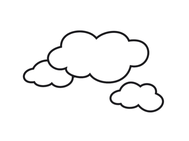 types of clouds coloring pages - photo#20