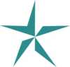 Teal Star - vector clip art online, royalty free & public domain