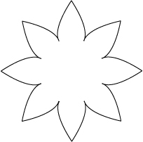 35 flower templates to cut out . Free cliparts that you can download ...