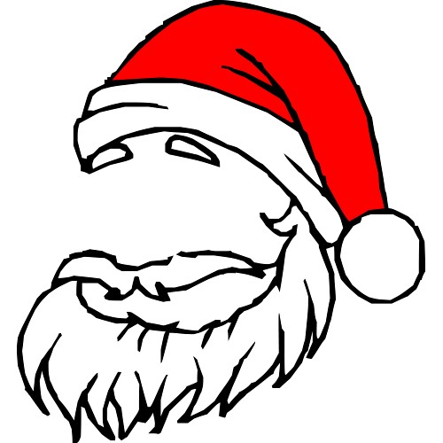 Gallery For > Santa Beard Clipart