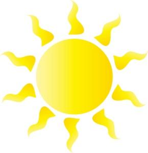 Bright Yellow Sun Clip Art - ClipArt Best