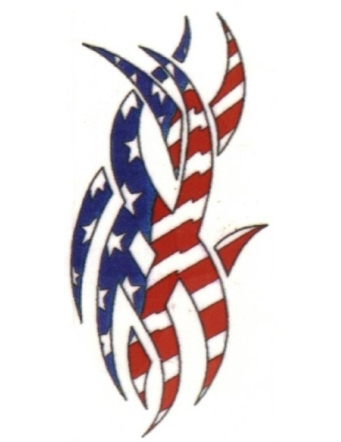 Flag tattoo designs clipart best for Patriotic tribal tattoos