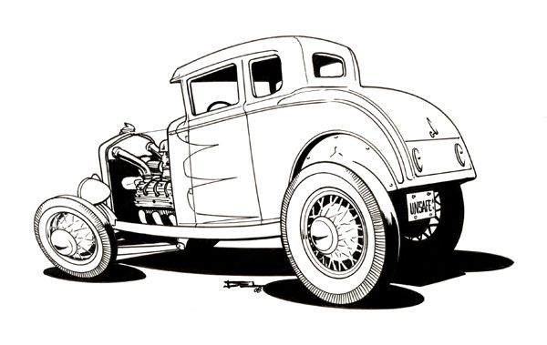 Classic Car Cartoons on dodge truck models