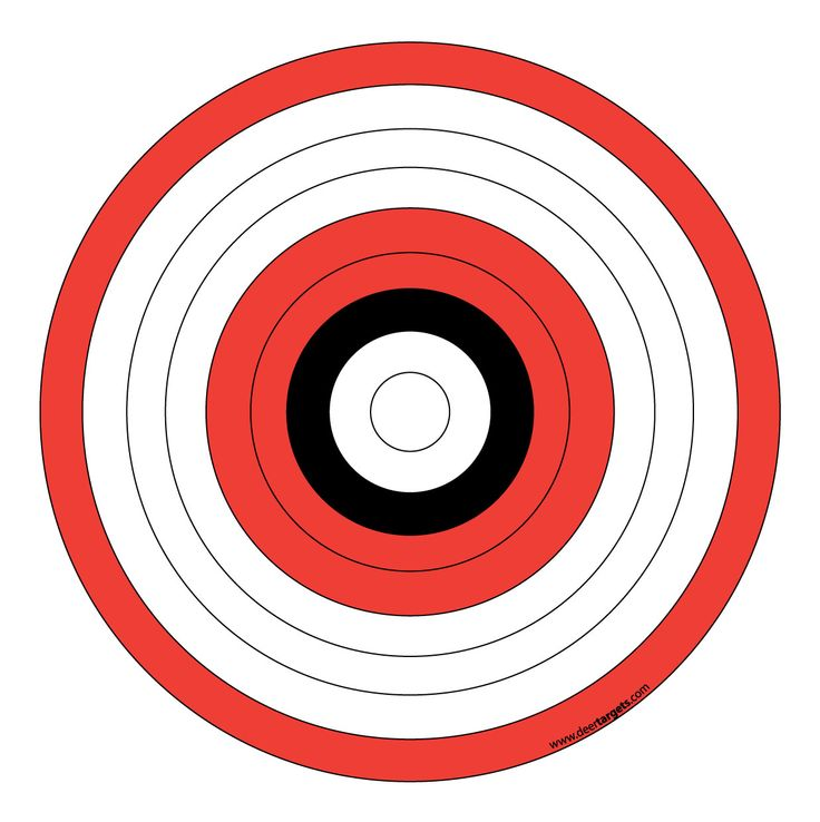 This is an image of Delicate Printable Archery Targets
