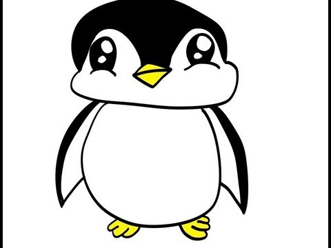 how to draw a penguin in youtube