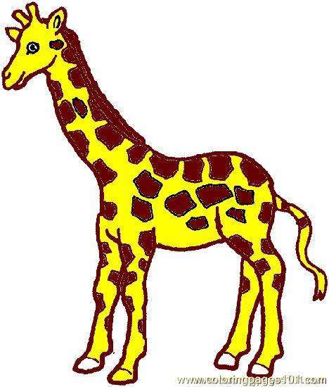 Colouring In Giraffe