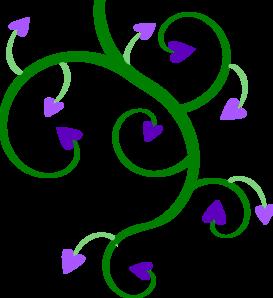 Heart Vine clip art - vector clip art online, royalty free ...