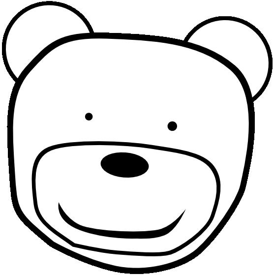 Teddy Bear Head Drawing Teddybear Head Black White
