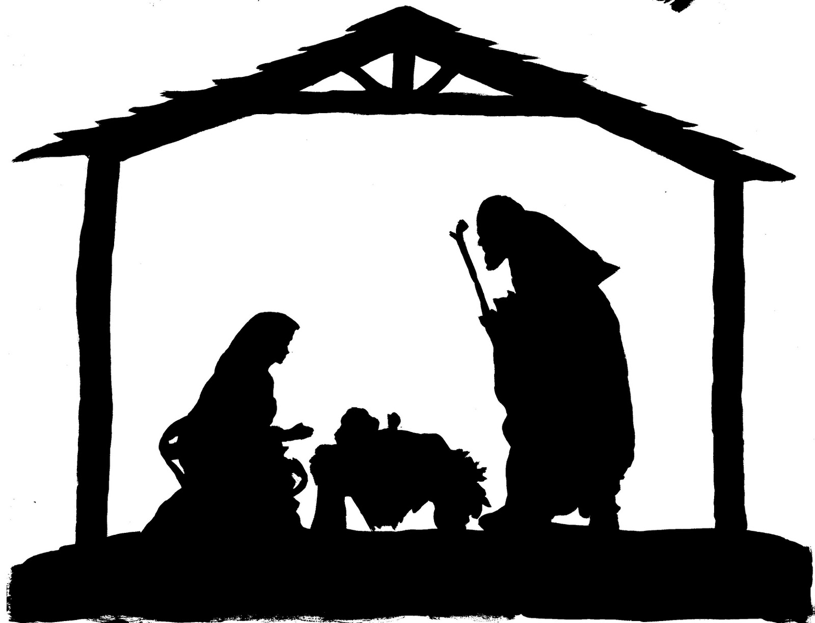 Free Printable Nativity Silhouette Search Results