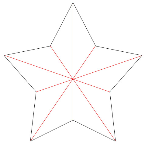 Star shape template clipart best for Paper star pattern template