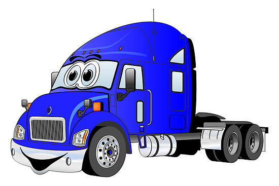 Semi Truck Cartoon Image Semi Truck Blue Cartoon Quot by
