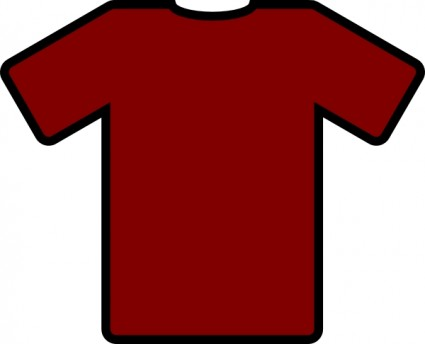 Red Tshirt clip art Vector clip art - Free vector for free download