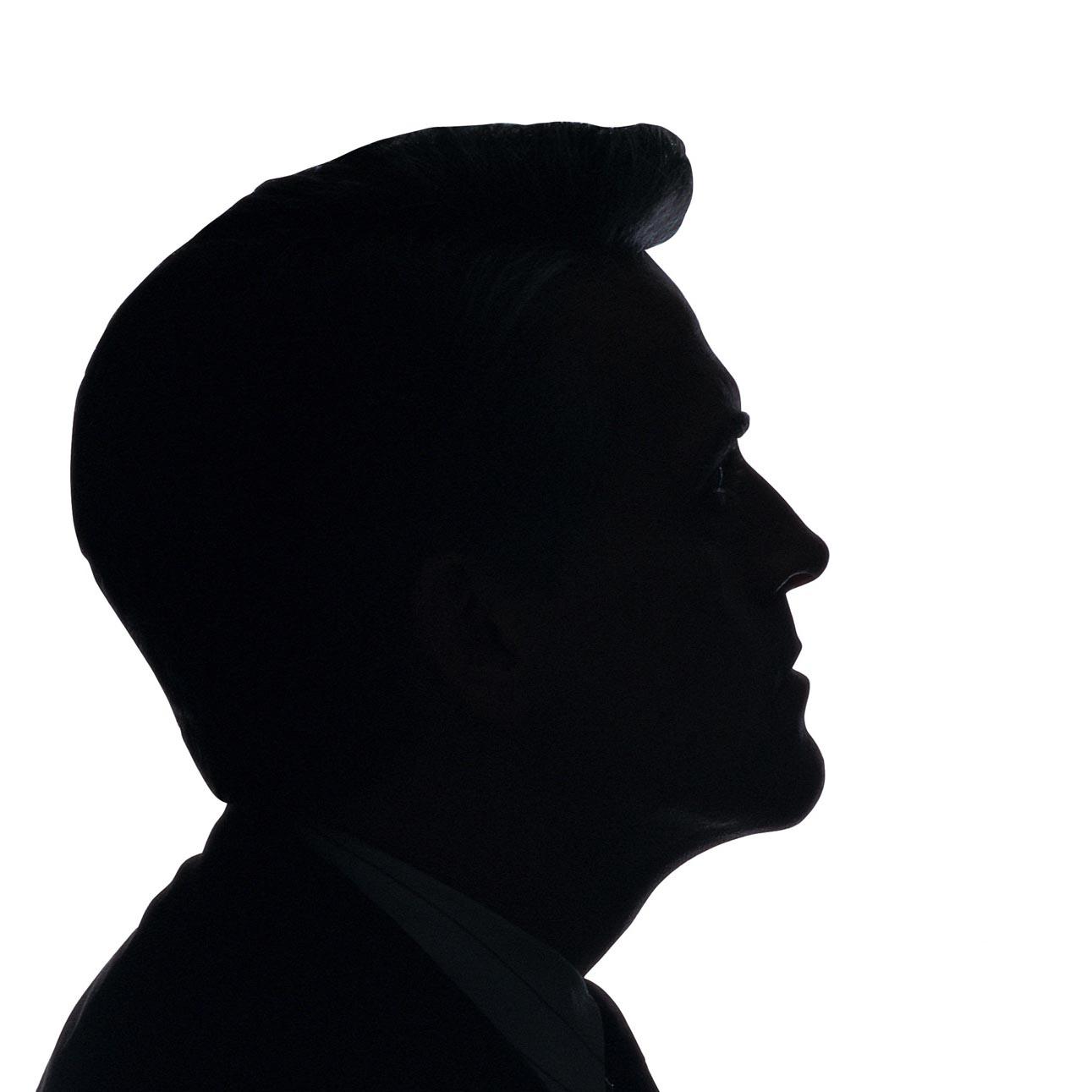 Male face profile silhouette