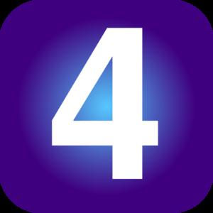 Number 4 clip art - vector clip art online, royalty free & public ...