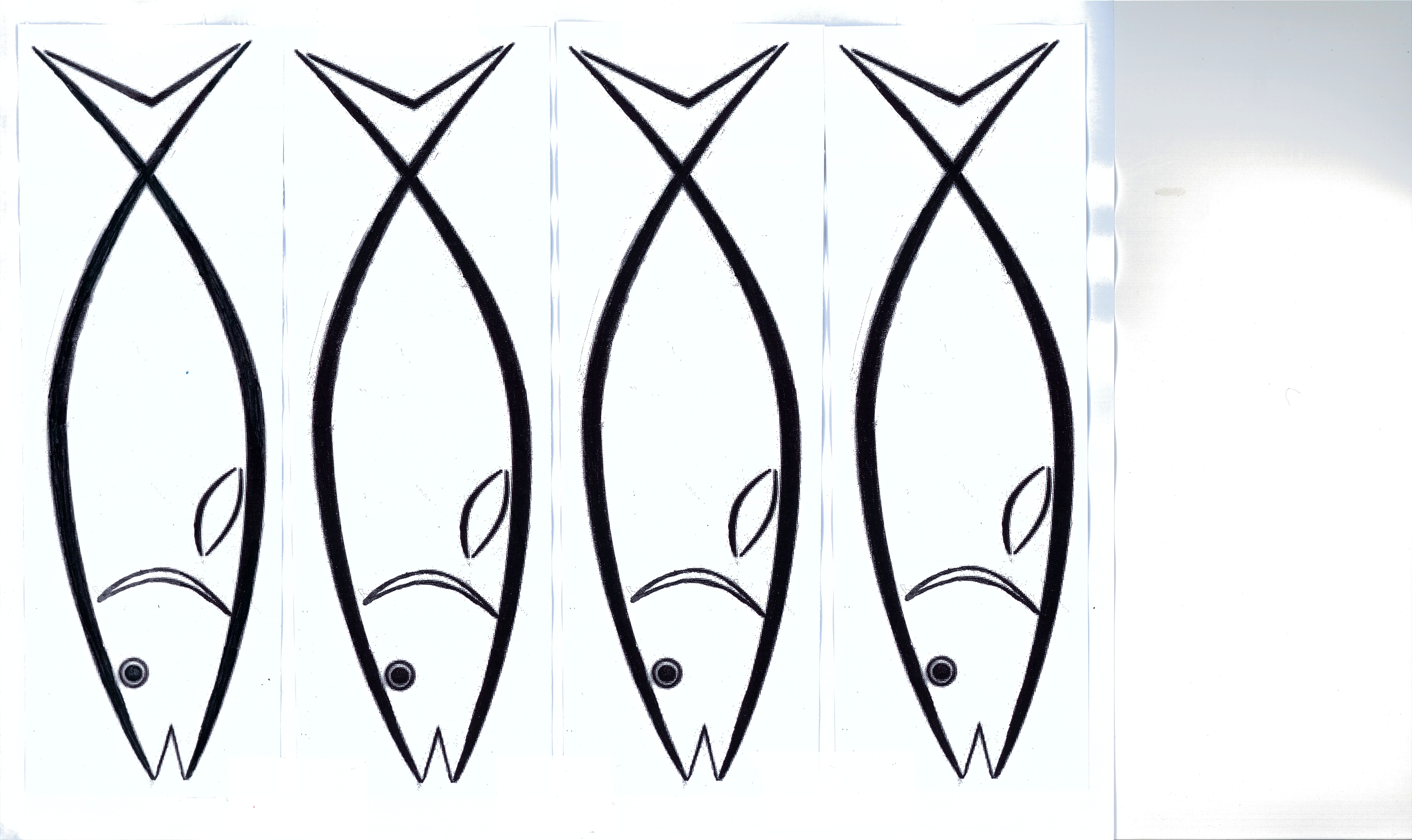 Free cutout fish puzzle printout clipart best for Fish pictures to print