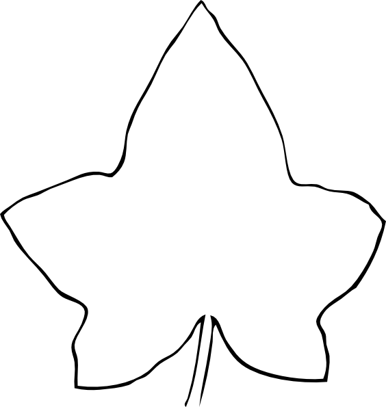 Line Art Free : Line drawing leaf clip art vector online