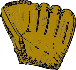 Baseball Glove clip art Free Vector