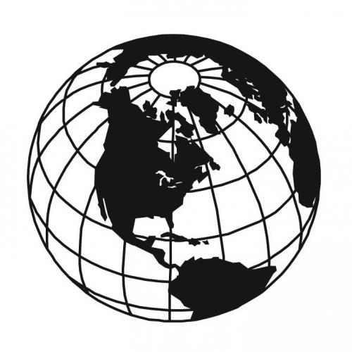 Vintage Globe Line Drawing : Globe line art clipart best