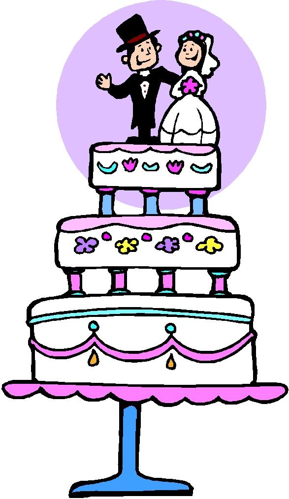Free Wedding Wedding Cake Clip Art