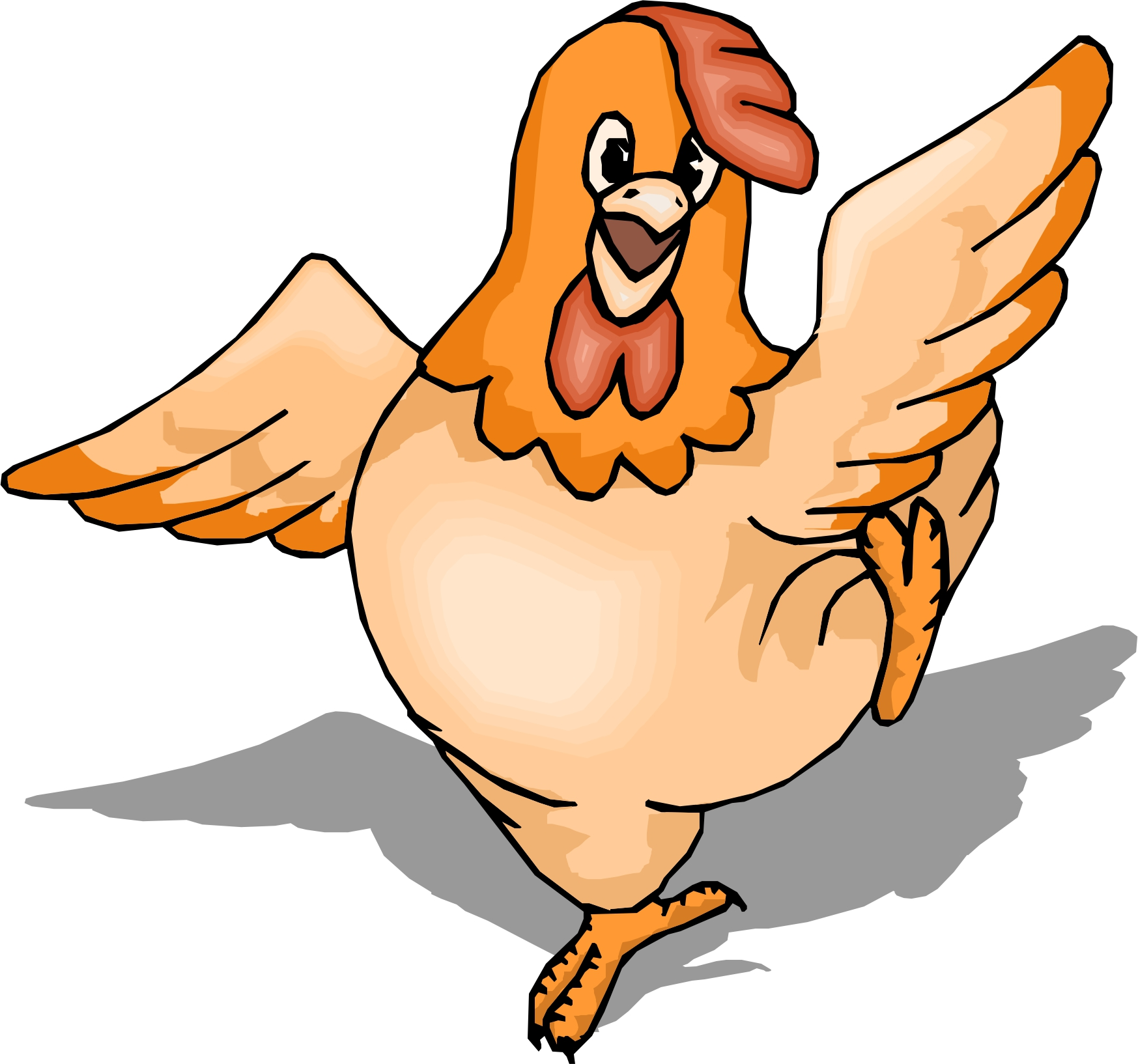 cartoon chicken clip art free - photo #10