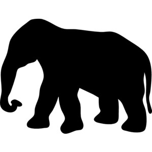 Elephant Clip Art Black - ClipArt Best