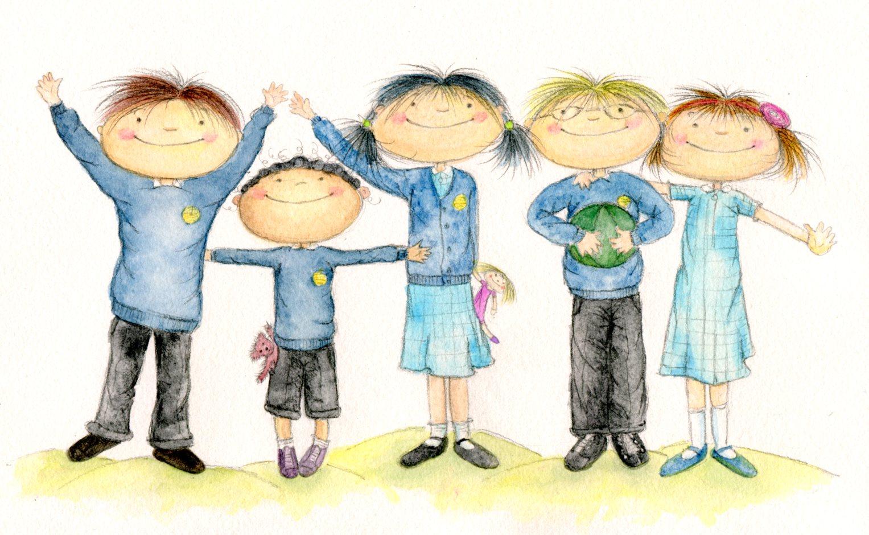 Goodbye School Children's Clipart
