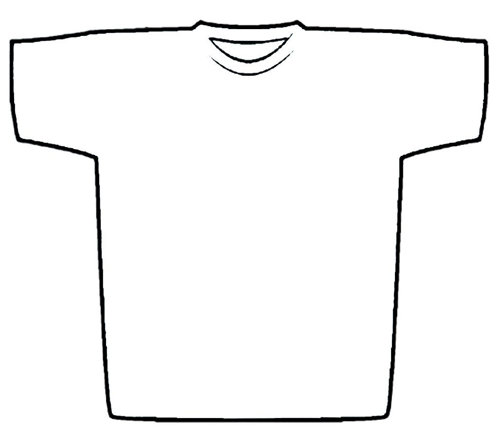 T Shirt Shape Template Clipart Best