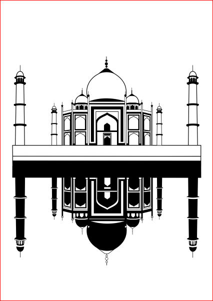 Taj Mahal Vector - ClipArt Best