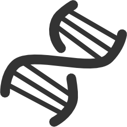 chromosome, creative, crisp-icons, dna, gene, genetics, grid, helix, isolated, line-icon, objects, outline, pixel-perfect, rna, science, shape, strand icon