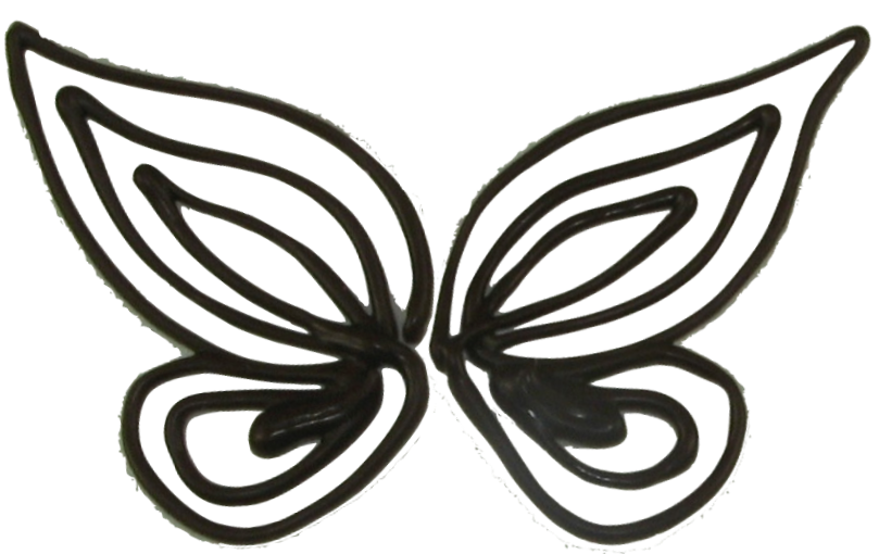 Cake Decorating Butterfly Template : Chocolate Butterfly Template - ClipArt Best
