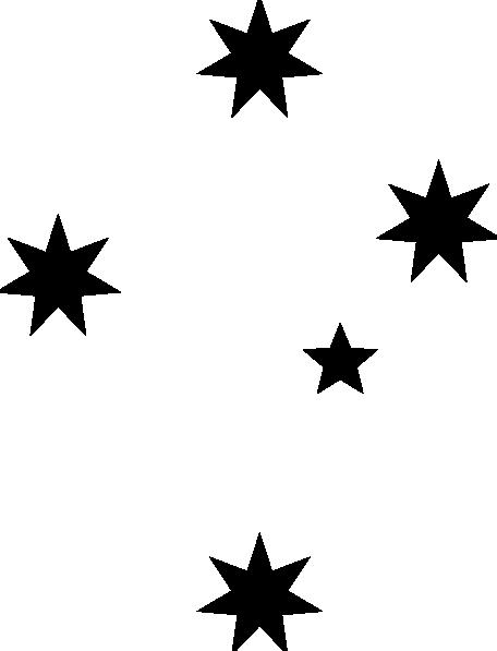 black and white star clip art