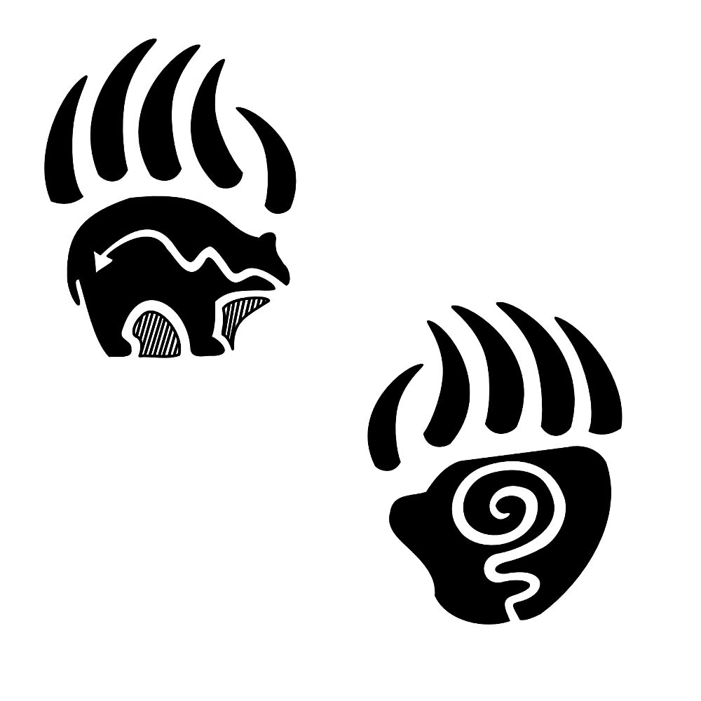 bear paw tattoo tribal clipart best