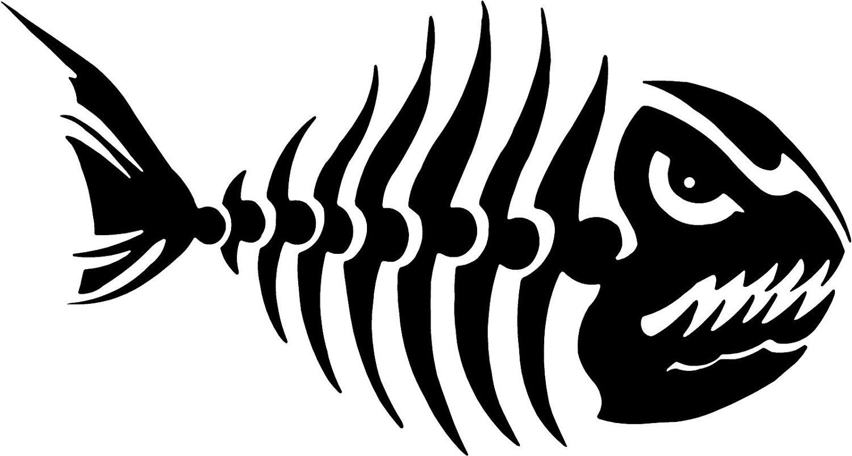 Popular Fish Bones Sticker - ClipArt Best