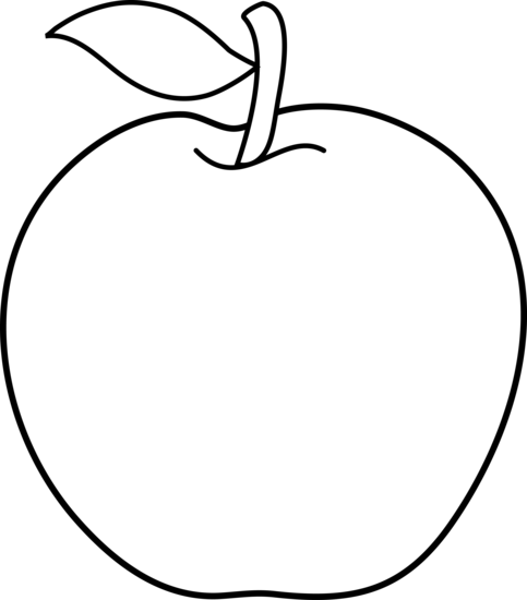 Black And White Apple Clip Art