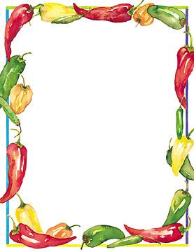 Chili Pepper Border - ClipArt Best