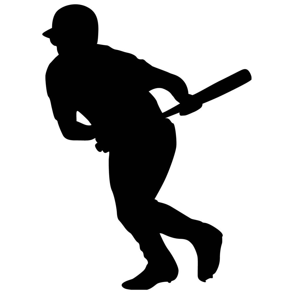 free clipart baseball player silhouette - photo #19