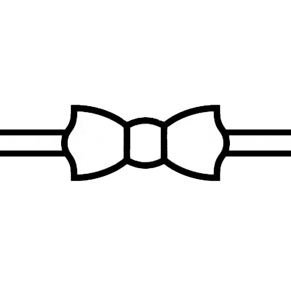 clipart bow tie outline - photo #22