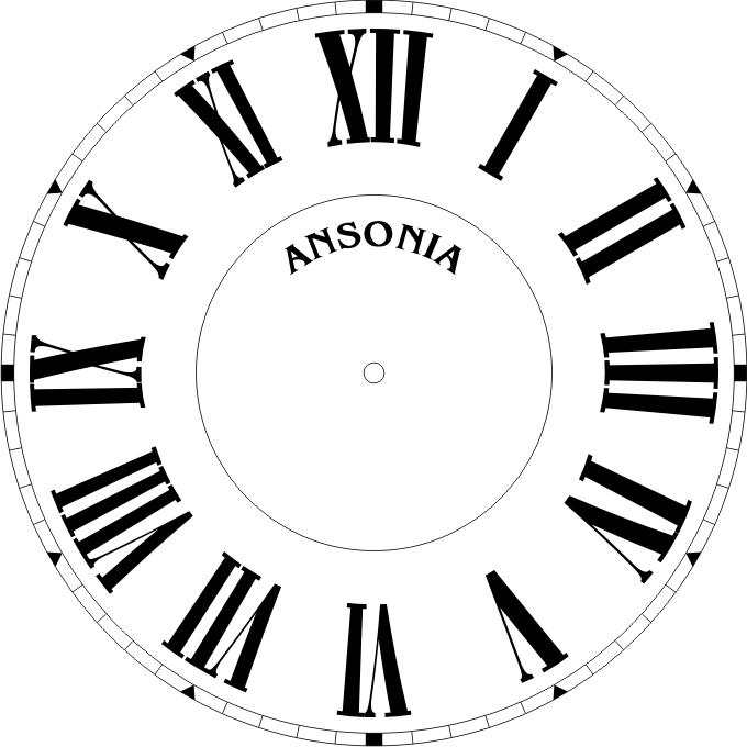 Roman Numeral Clock Face Template Clipart Best