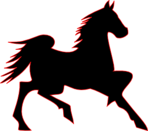 Fire Horse clip art - vector clip art online, royalty free ...