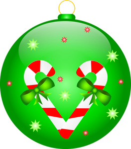Ornament Clipart Image - Green Christmas Ornament ...