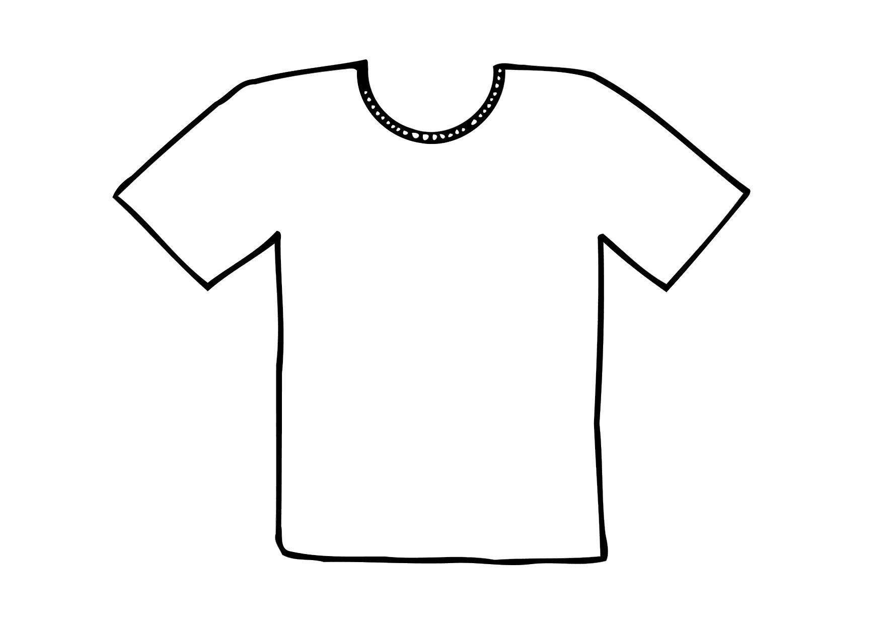 Free Coloring Pages Of T Shirt Outline T Shirt Coloring Page