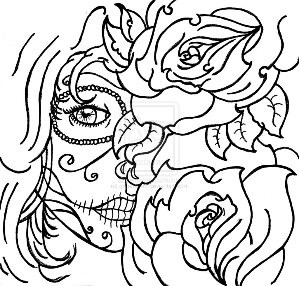 Cool rose designs to draw clipart best for Cool rose coloring pages