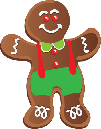 Clip art of a Gingerbread Man Christmas Cookie