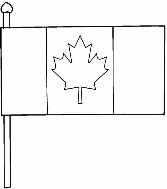 Printable Canadian Flag To Color
