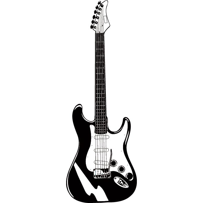 Electric Guitar Silhouette Vector Free - ClipArt Best