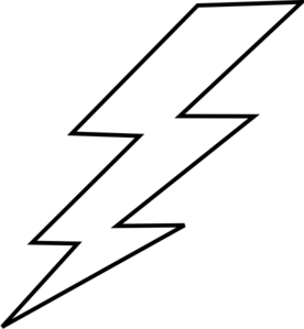 lightning bolt coloring pages | Lightning Bolt Coloring Pages - ClipArt Best