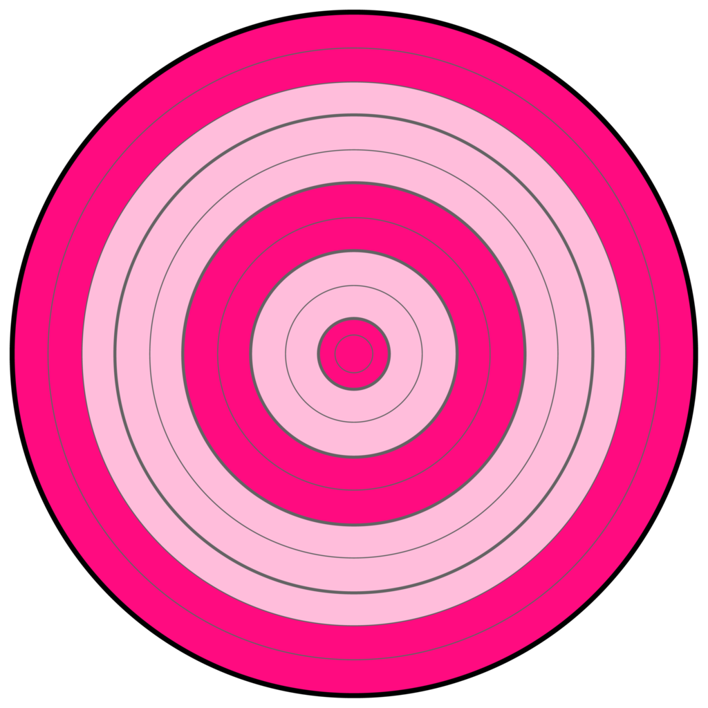 This is a picture of Impertinent Printable Bullseye Target