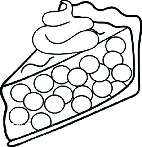 pie colouring clipart best Sausage Coloring Page  Cherry Pie Coloring Page