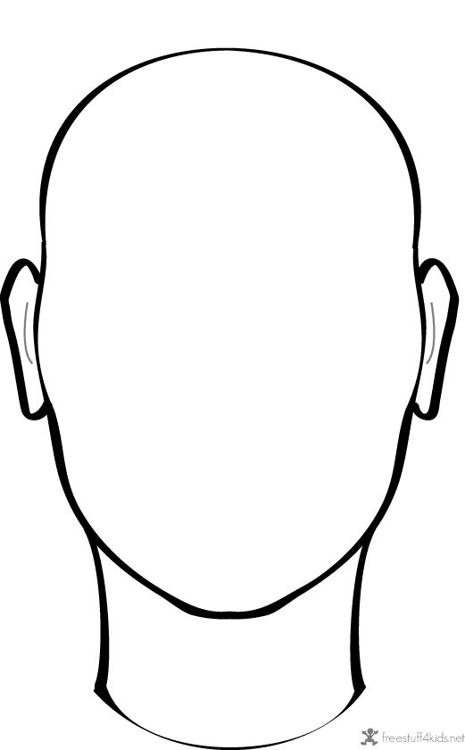 Empty face clipart best for Blank person coloring page
