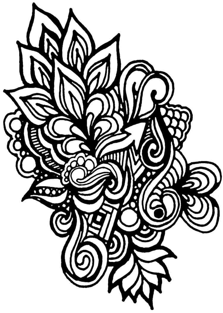 Drawing Lines For Quilting : Motif drawings clipart best